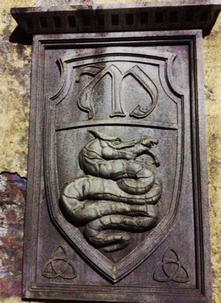 The emblem that is engraved in the side of the convent In